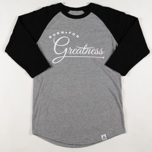 """Greatness"" Raglan Tee Grey"