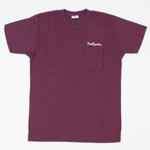 Logo Pocket Tee Tri-Cranberry White