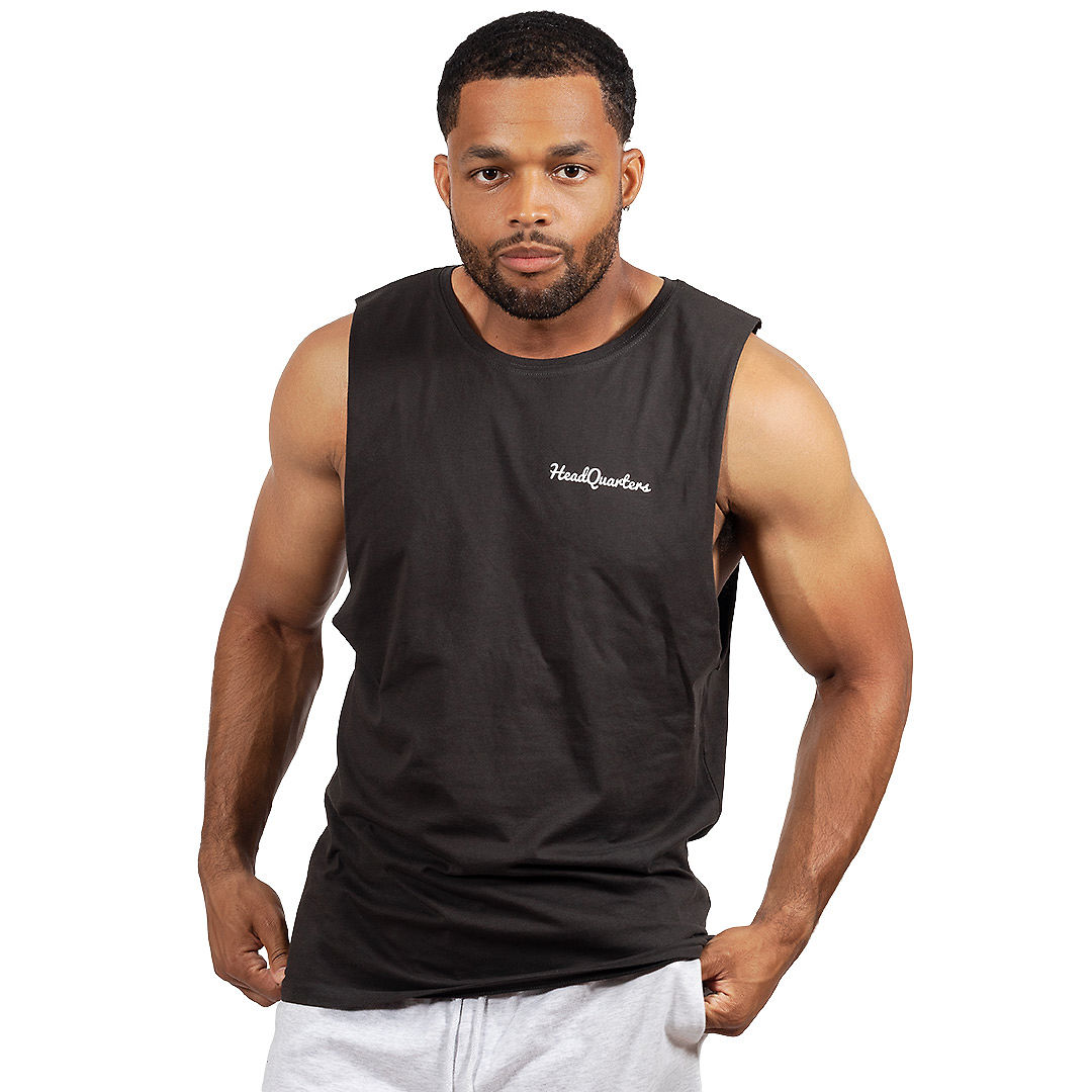 HeadQuarters Sleeveless Tee Black