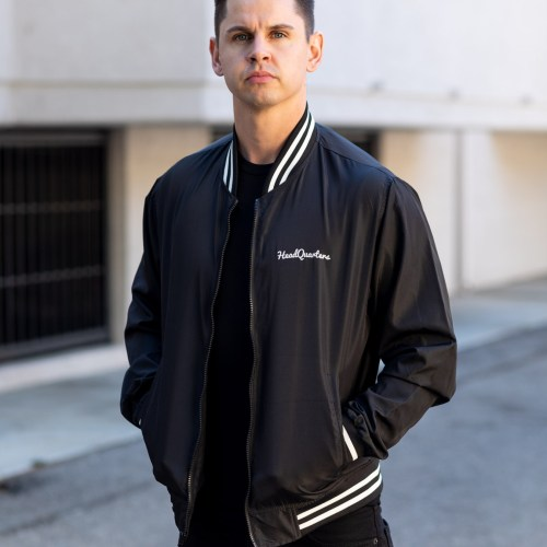 HeadQuarters Lightweight Bomber Jacket Black/White