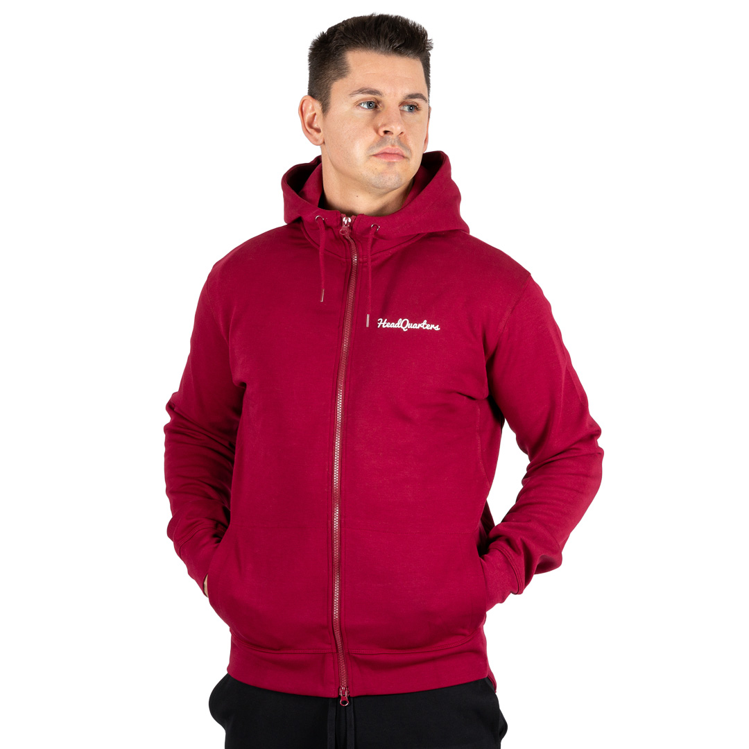 HeadQuarters Tech Fleece Full-Zip Hoodie Burgundy