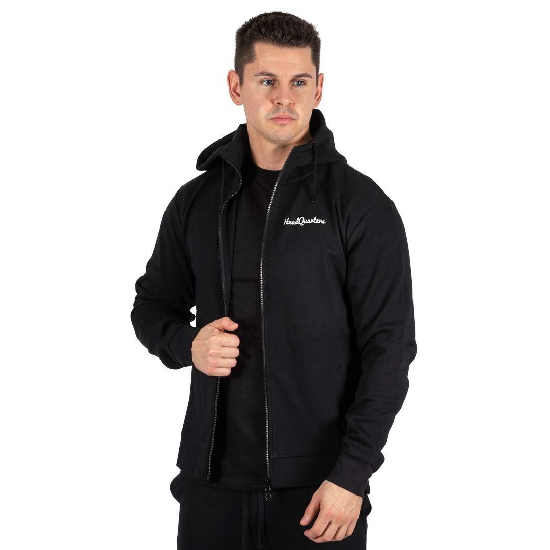 HeadQuarters Tech Fleece Full-Zip Hoodie Black