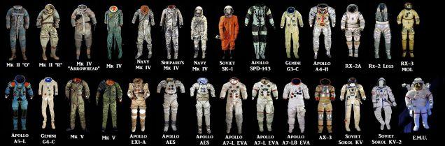 Todos los trajes espaciales