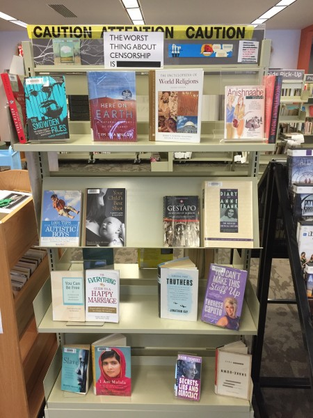 Regina Public Library Freedom to Read Week Book Display