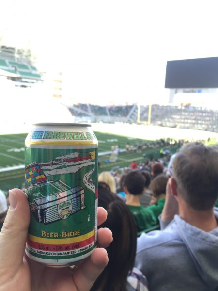 Beer at New Mosaic Stadium