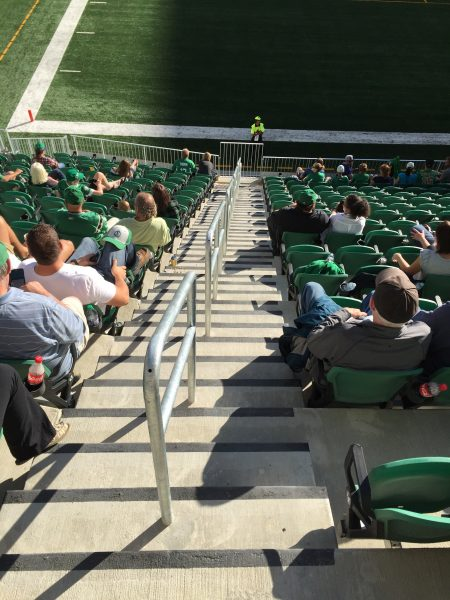 Stairs to Lower Bowl at New Mosaic Stadium