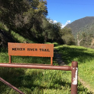 Trailhead sign of the Merced River Trail