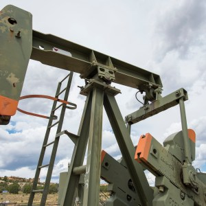 An oil well on Bureau of Land Management land in New Mexico