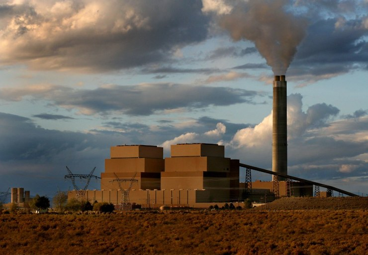 A coal-fired power plant