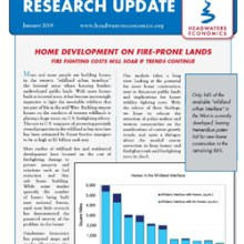 Headwaters Economics Newsletter cover- Jan 2008