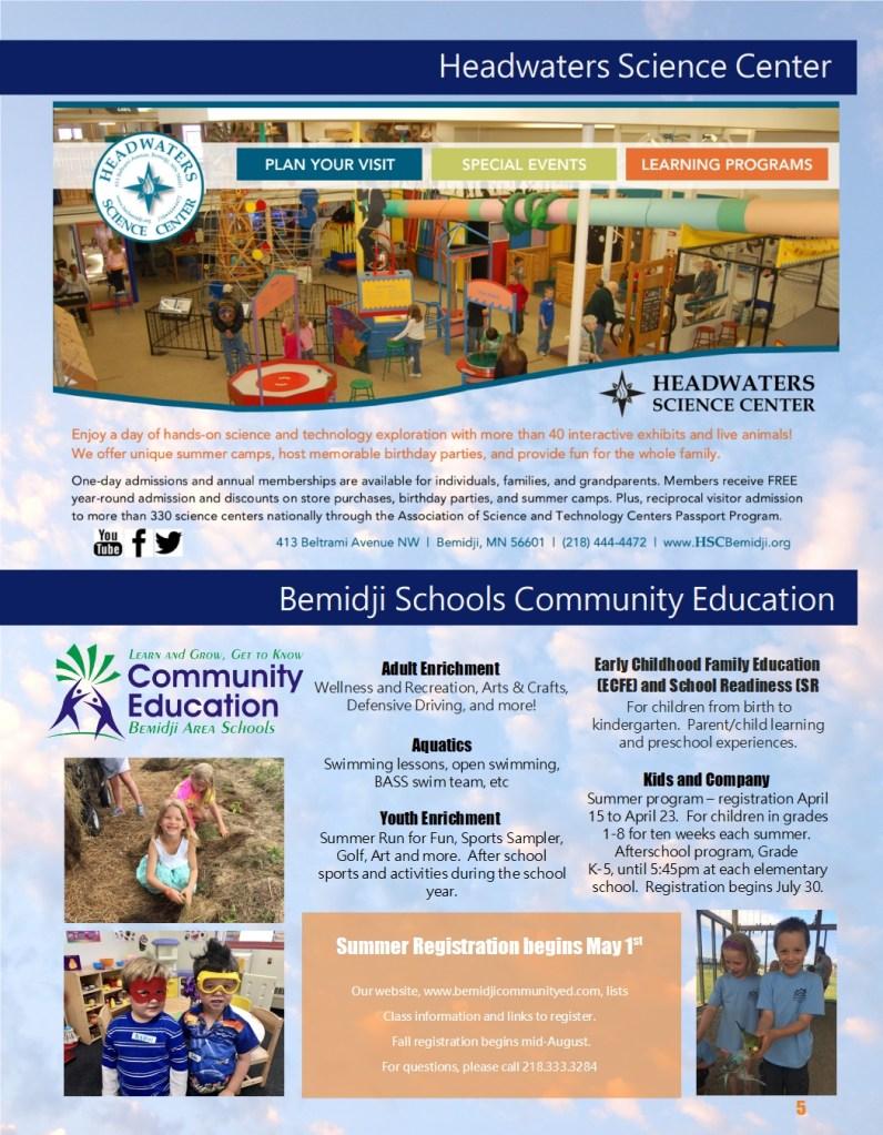 5) Bemidji Community ed – Science Center | Headwaters Music