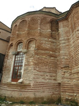 The church of Christ Pantokrator. The brickwork is elaborate enough to believe it was not covered in cement