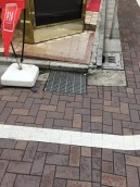 Imagine what it takes to keep this stormwater grate from clogging, Walking Street, Tokyo
