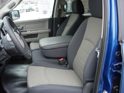 2013-2019 RAM 40/20/40 Opening Console Non-Opening Middle Bottom Seat Covers No Drink Holders