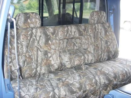 1992 - 1998 Ford F-250-450 Super Crew XLT Bench with Armrest and Adjustable Headrests Seat Covers