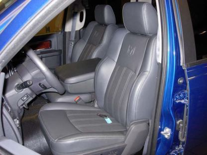 2009 - 2012 RAM Leather 40/20/40 with Opening Upper and Lower Consoles Seat Covers