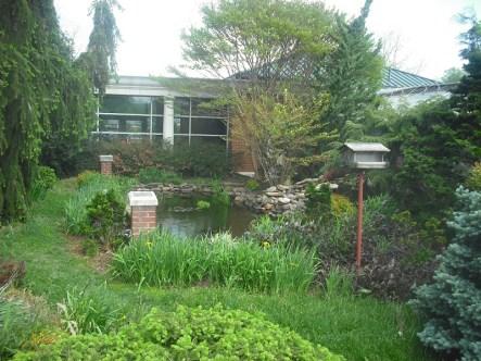 Water garden deside the McKinney Center