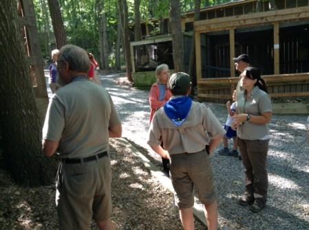 Raina gives us a tour of the Center's animal ambassadors.