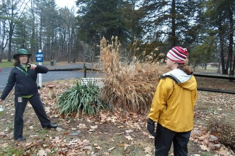 Kate and Kelly at the future pollinator waystation site.