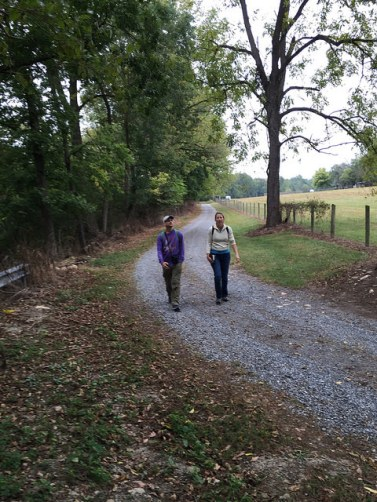 Chip and Ginny in search of bur oak trees.