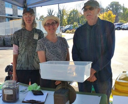 Adrie, Kate and Art at the final Market collection station on October 29.