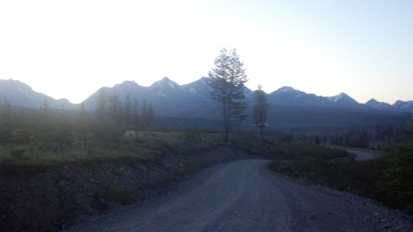 Sunrise between Whitefish and Red Meadow Pass. I had already bee riding for 2 hours by now. This was the beginning of my longest mileage day.