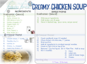 round 1 CREAMY CHICKEN SOUP card