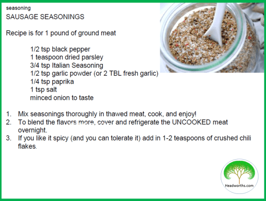 SAUSAGE_SEASONINGS