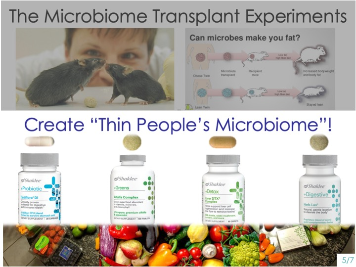 -You can create YOUR OWN -THIN PEOPLE'S microbiome! -Shaklee Prove It Challenge with our cleanse -Transform us so we can ALL HAVE THIN PEOPLE'S MICROBIOME! -This is incredible!
