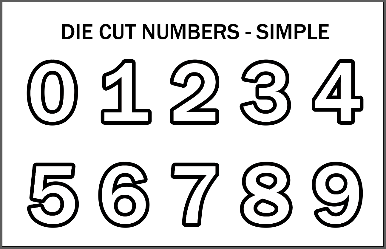 Two Color Cut Number Kits 0 9