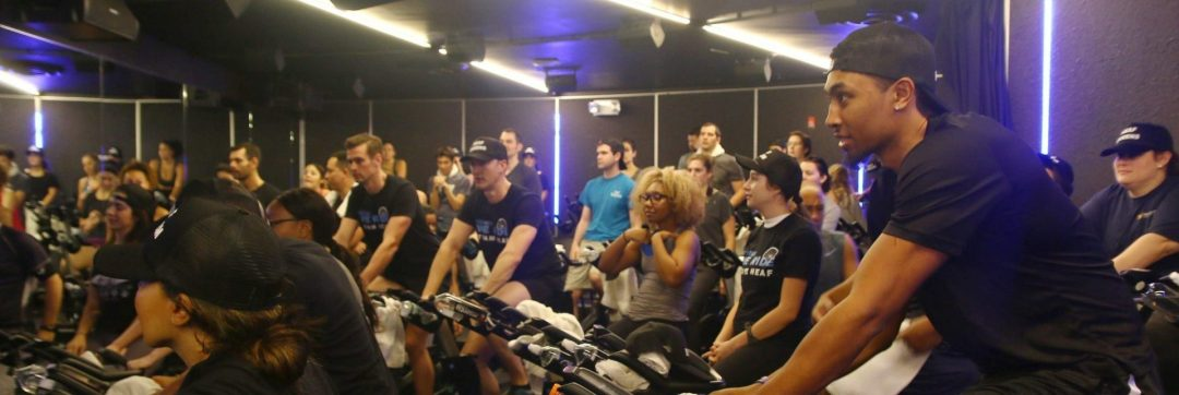 HEAF volunteers take a spinning class