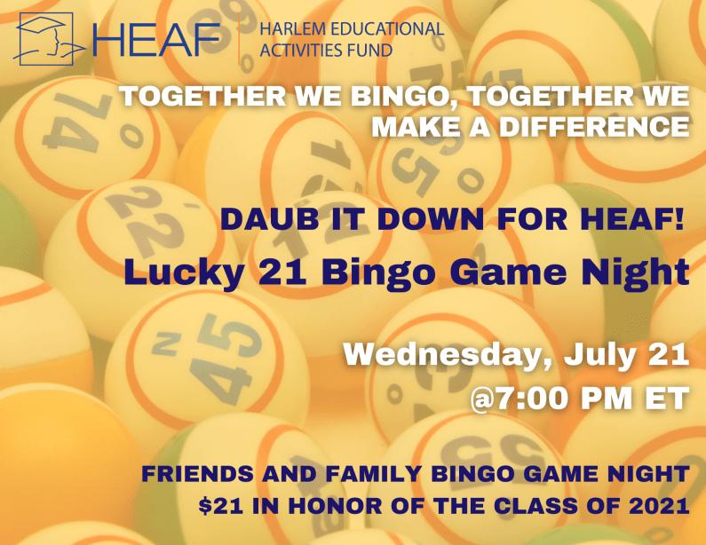 poster for Bingo Night 2021