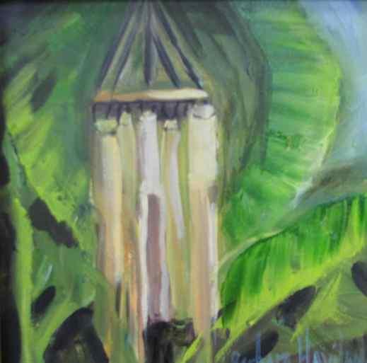 Windchimes and banana tree