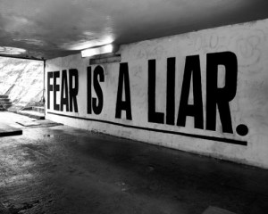 never give in to fear, Fear is a liar