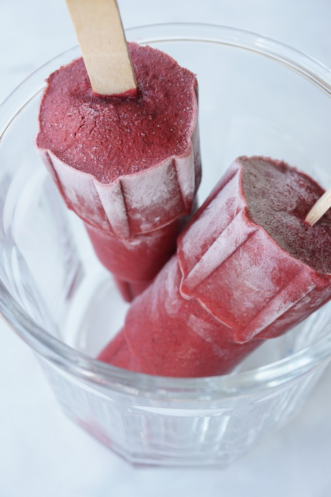 Blackberry Basil Popsicle