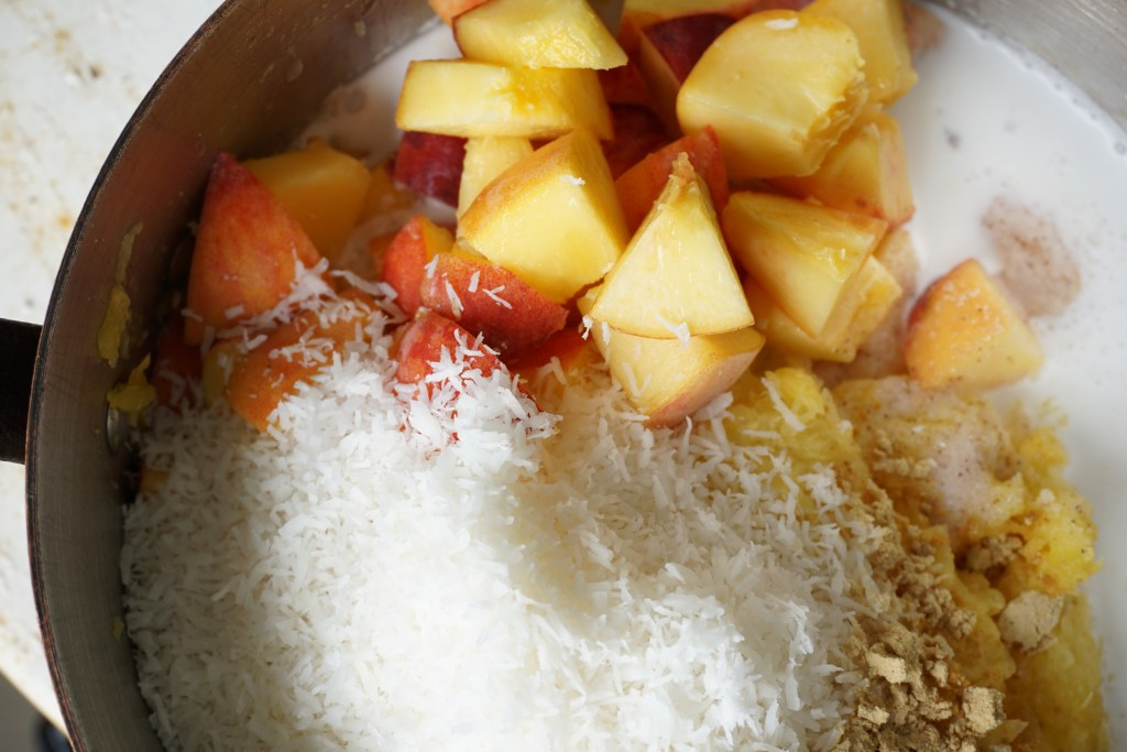 peach ginger oatmeal - Healing Family Eats