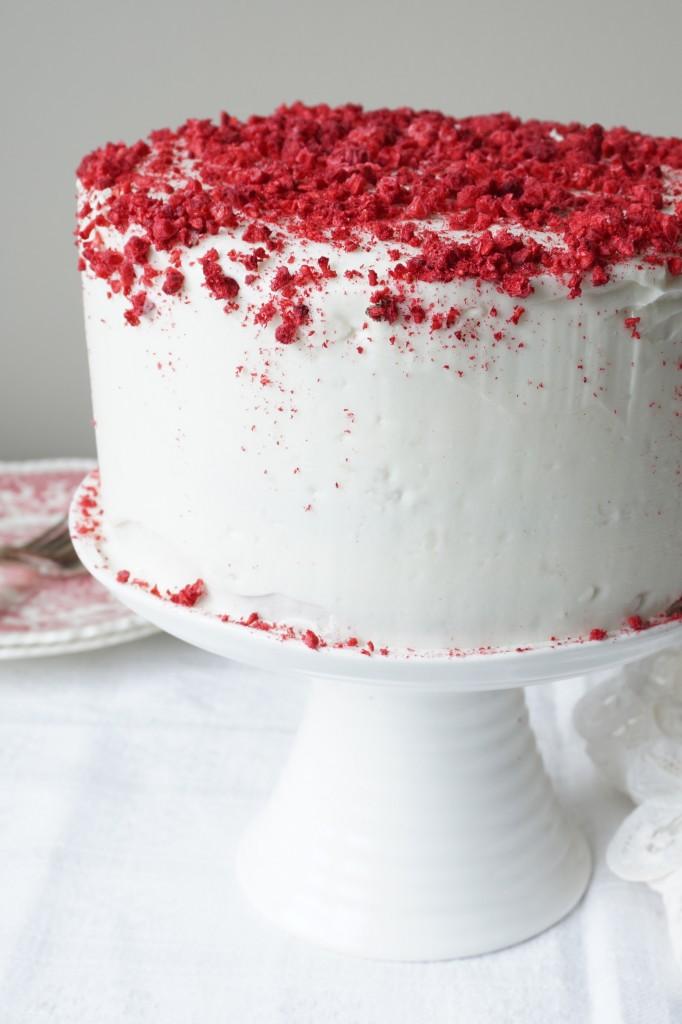 Raspberry Valentine Cake - Healing Family Eats