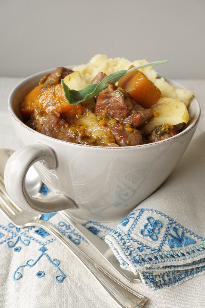 lamb stew with butternut, apples and ginger - AIP
