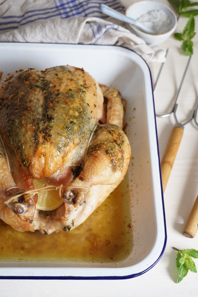Lemon and Mint Roasted Chicken | AIP | Healing Family Eats