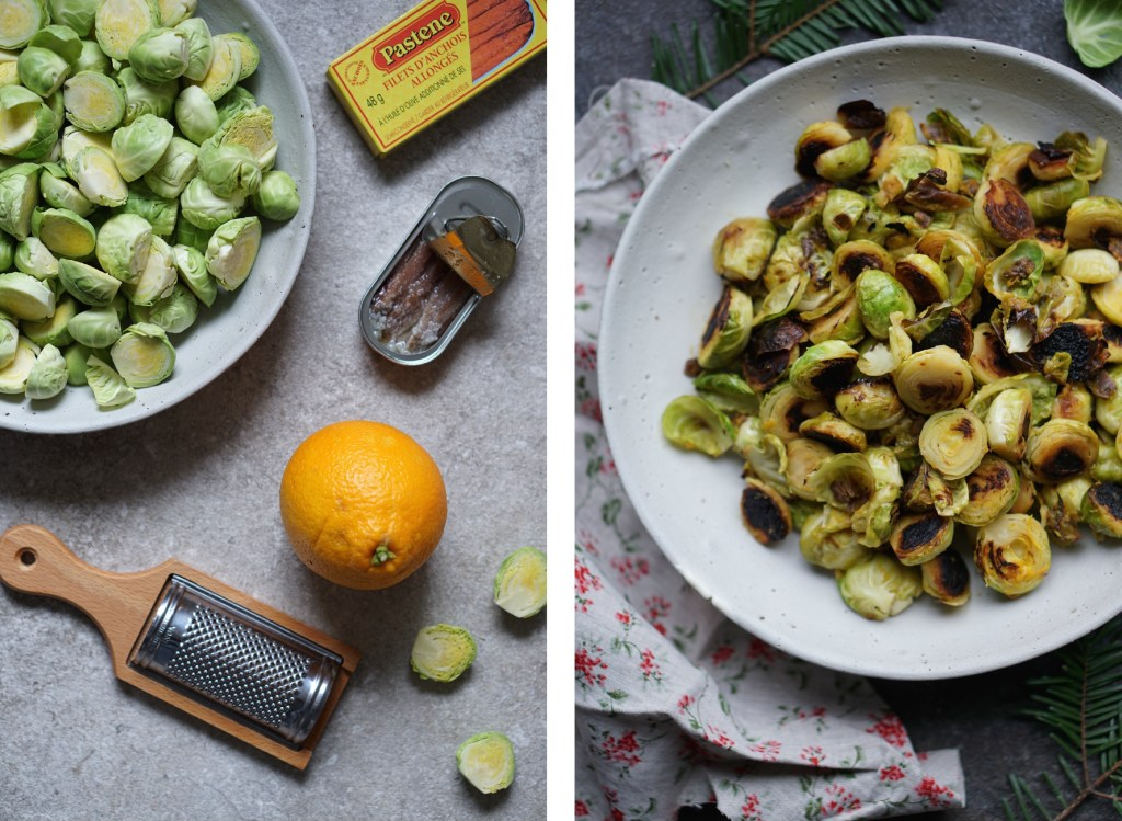 Charred Brussels Collage