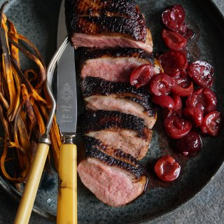 Pan-Fried Marinated Duck Breasts with Cinnamon-Spiced Cherries {AIP, GAPS, SCD, Paleo}