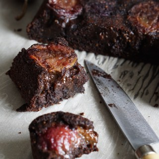 AIP Carob and Plum Cake by Healing Family Eats
