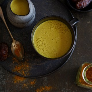 AIP Turmeric Milk with Orange and Dates