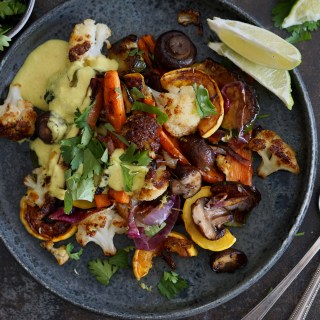 Fenugreek Roasted Vegetables Coconut Curry