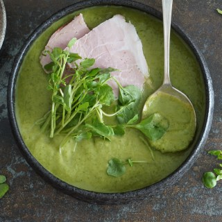green soup and ham {AIP}