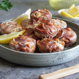 Wild Salmon and Prosciutto Cups
