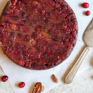 Cranberry Date Upside Down Cake {AIP, Paleo}