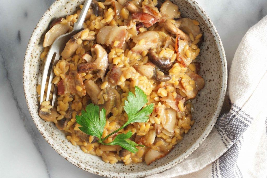 AIP Mushroom risotto