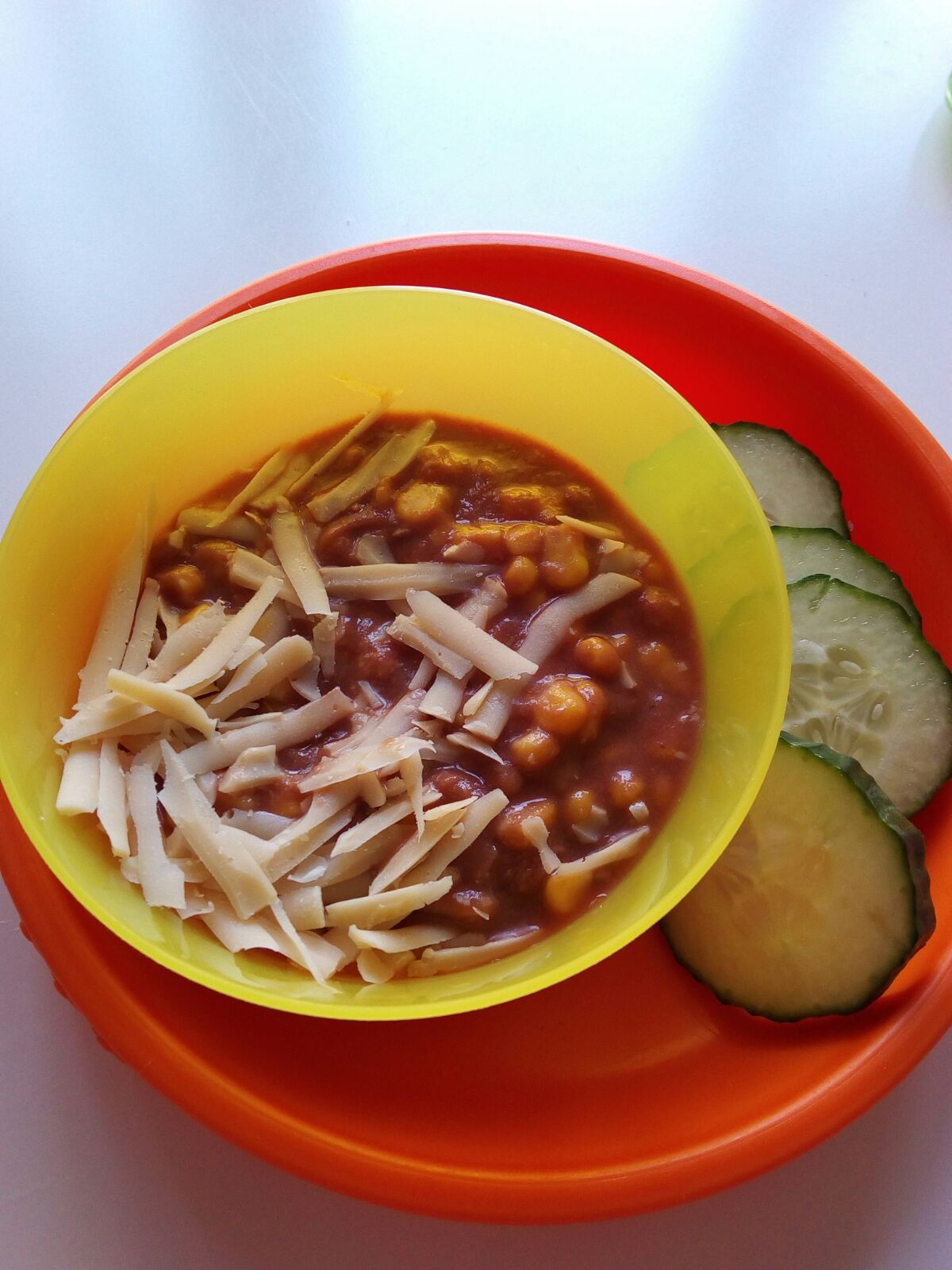 Beans with corn