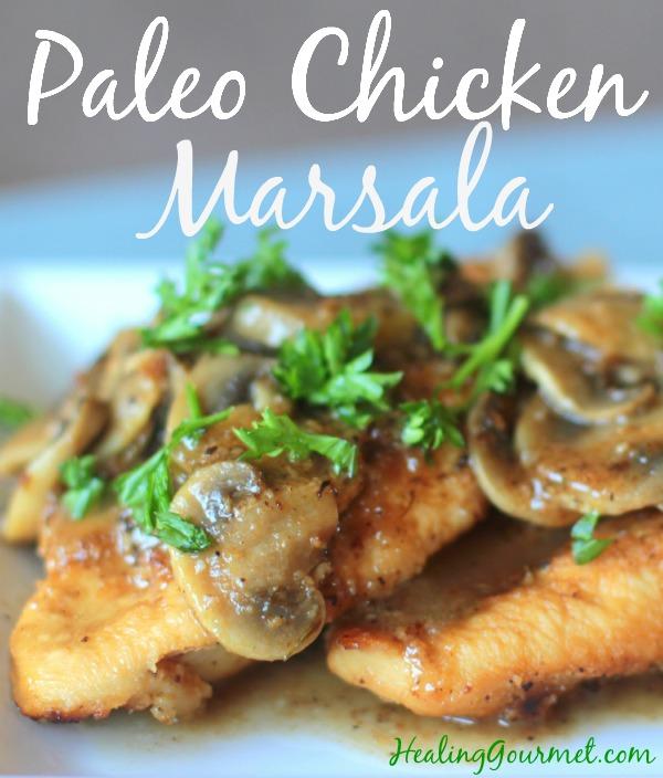 Delicious low carb Paleo chicken marsala